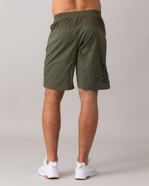 Perform-Shorts-Long-Army-Green-32