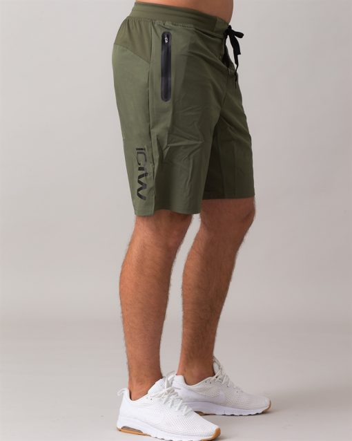 Perform-Shorts-Long-Army-Green-42