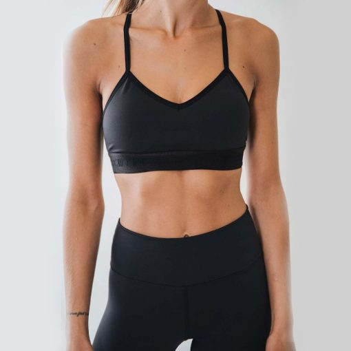 all black strength bra