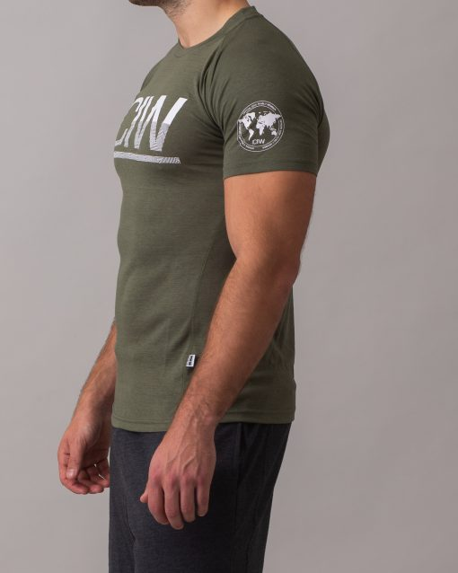 Army-Green-Split-Print-t-shirt-2